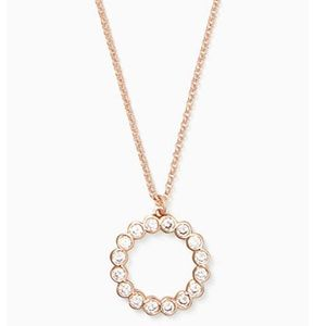 Kate Spade Circle Cubic Zirconia Necklace Gold